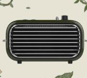【样品】洛斐 毒奏蓝牙音箱 便携桌面迷你立体声重低音 手机无线复古收音机小音响 绿色-香扁柏