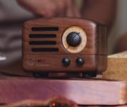 【样品】猫王收音机 MW-2小王子胡桃木 创意复古便携无线蓝牙音箱可爱无线迷你小音响